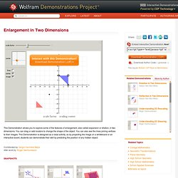 Enlargement in Two Dimensions - Wolfram Demonstrations Project