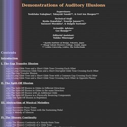 Demonstrations of Auditory Illusions