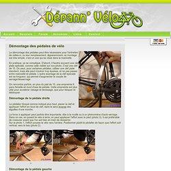Démontage des pedales