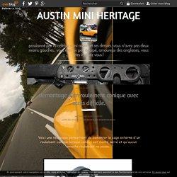 demontage d'un roulement conique avec accés difficile. - mini austin cooper 1275 restauration et preparation