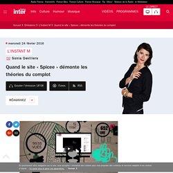 Quand le site « Spicee » démonte les théories du complot du 24 février 2016 - France Inter