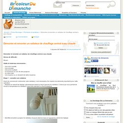 Salle de bain int rieur pearltrees - Demonter radiateur chauffage central ...