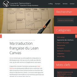 Ma traduction française du Lean Canvas