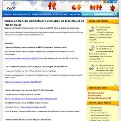 Vidéos en français démontrant l'utilisation de tablettes et de TNI en classe