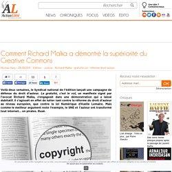 Comment Richard Malka a démontré la supériorité du Creative Commons