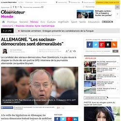 """ALLEMAGNE. """"Les sociaux-démocrates sont démoralisés"""""""