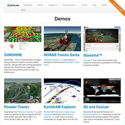 Demos - Cesium - WebGL Virtual Globe and Map Engine