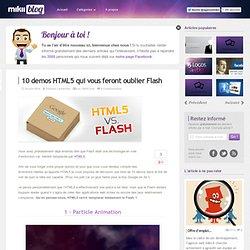 10 demos HTML5 qui vous feront oublier Flash