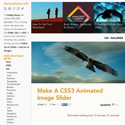 Make A CSS3 Animated Image Slider