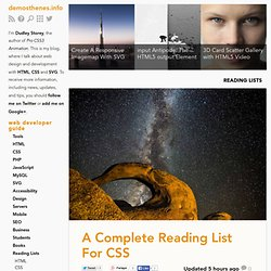 A Complete Reading List For CSS