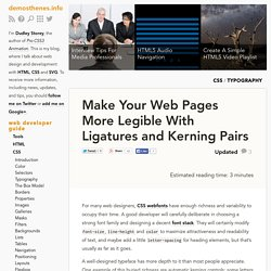Make Your Web Pages More Legible With CSS3 Ligatures and Kerning Pairs