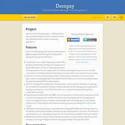 The Dempsy Real-Time BigData Framework