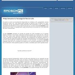 Philips Demuestra Su Tecnología De Tela Con LEDs MadBoxpc.com