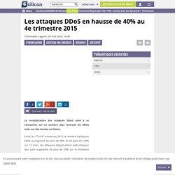 Les attaques DDoS se démultiplient au 4e trimestre 2015