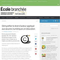 Démystifier le droit d'auteur appliqué aux œuvres numériques en éducation