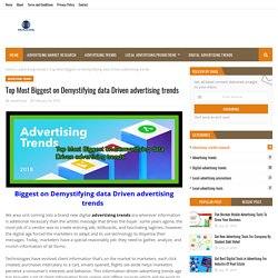 Top Most Biggest on Demystifying data Driven advertising trends