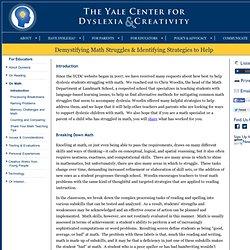 Demystifying Math Struggles