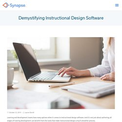 Demystifying Instructional Design Software - Synapse
