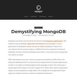 Demystifying MongoDB
