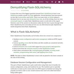 Demystifying Flask-SQLAlchemy
