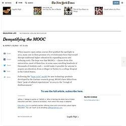 Demystifying the MOOC