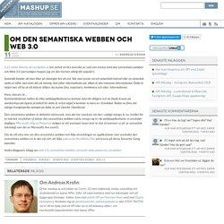 Om den semantiska webben och Web 3.0 » Mashup.se
