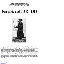 Den Sorte Død i 1347 - 1350