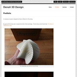 Denali 3D Design Portfolio