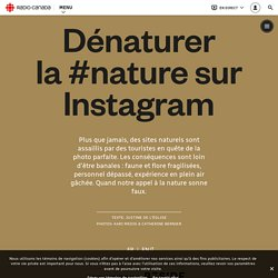 Dénaturer la #nature sur Instagram