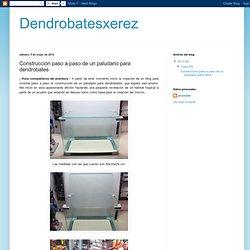 Dendrobatesxerez: Construcción paso a paso de un paludario para dendrobates
