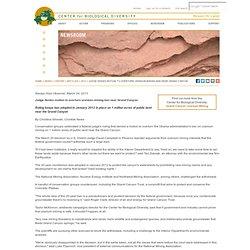 Judge denies motion to overturn uranium-mining ban near Grand Canyon