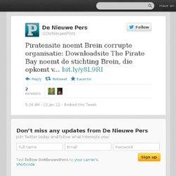 De_Pers: Piratensite noemt Brein co