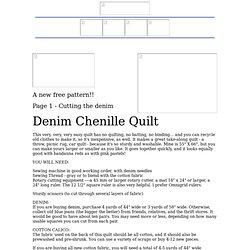 Denim Chenille Quilt