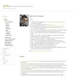 Denkfabrik für Wirtschaftsethik - Ulrich Thielemann - MeM Denkfabrik