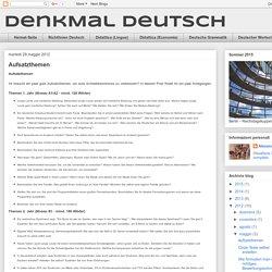 DenkMal Deutsch: Aufsatzthemen