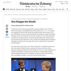 Die zehn denkwürdigsten TV-Interviews - Von Kloppo bis Kinski - Medien