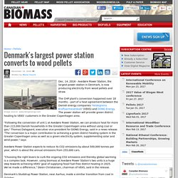 Denmark's largest power station converts to wood pellets