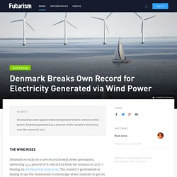 Denmark Breaks Own Record for Electricity Generated via Wind Power