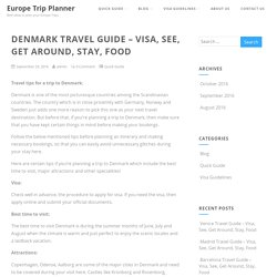 Denmark Travel Guide – Visa, See, Get Around, Stay, Food - Europe Trip Planner