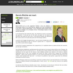Dennis Ritchie est mort