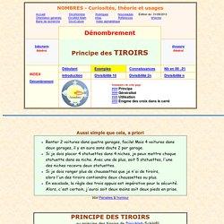 dénombrement - principe des tiroirs