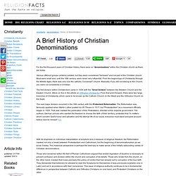 Brief History of Christian Denominations