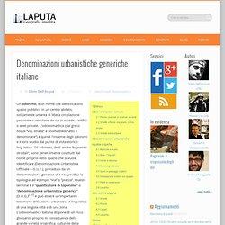 Denominazioni urbanistiche generiche italiane - LAPUTA