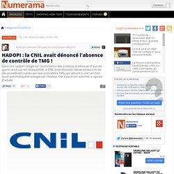 HADOPI : la CNIL avait dénoncé l'absence de contrôle de TMG !