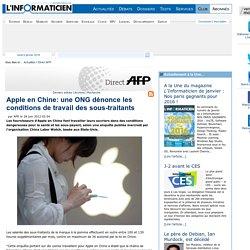 Apple en Chine: une ONG dénonce les conditions de travail des sous-traitants