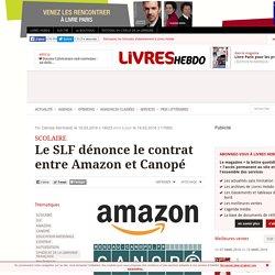 Le SLF dénonce le contrat entre Amazon et Canopé