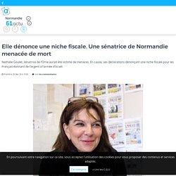 Elle dénonce une niche fiscale. Une sénatrice de Normandie menacée de mort – actu.fr