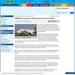 CAMAIR-CO annonce la densification des vols intérieurs