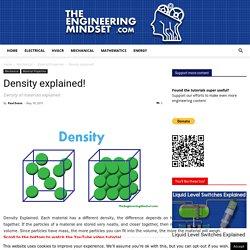 Density explained! - The Engineering Mindset