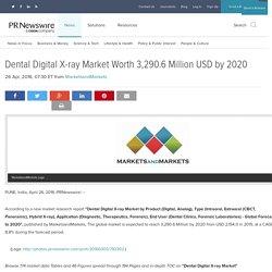 Dental Digital X-ray Market Worth 3,290.6 Million USD by 2020
